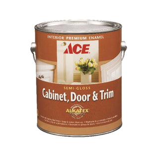 Ace Semi-Gloss White Ready-Mix Alkyd-Latex Hybrid Cabinet and Trim Paint 1 gal.