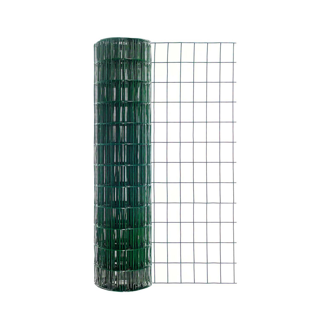 Lawn & Garden Zone 36 in. H x 50 ft. L Steel Lawn & Garden Fence Green