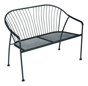 Living Accents Winston Bench Steel 31.89 in. H x 23.03 in. L x 41.14 in. D