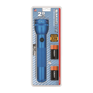 Maglite 19 lumens Blue Xenon Flashlight D Battery