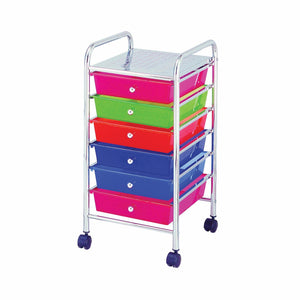 STORAGE CART 6 DRAWER CHROME