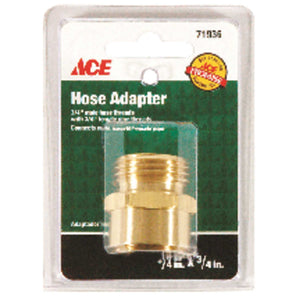 Ace 3/4 in. MHT x 3/4 in. FPT Brass Threaded Male/Female Hose Coupling