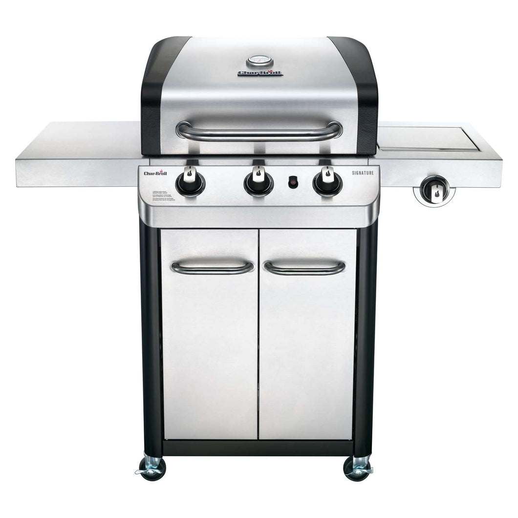 Char-Broil Signature Liquid Propane Freestanding Grill Stainless Steel 3 burners