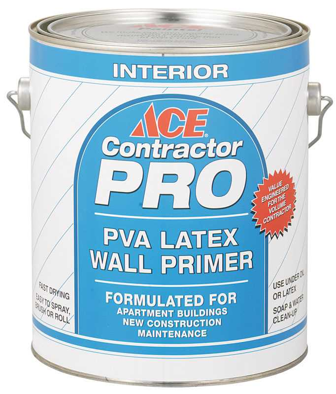Ace Contractor Pro White Flat Latex PVA Primer 1 gal.