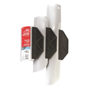 Ace 6, 10, 15 in. L White Aluminum/Steel Paint Shield Sets