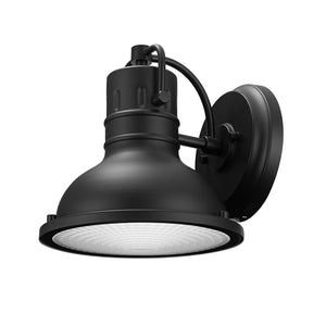 GLOBE ELECTRIC HARBOR 1-LIGHT MATTE BLACK OUTDOOR INDOOR WALL SCONCE,
