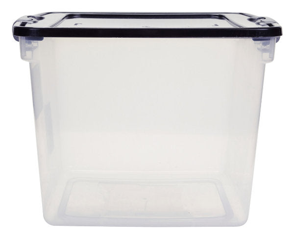 Homz 31 Quart Clear Latching Storage Tote