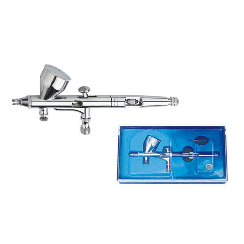 PRECISION AIRBRUSH KIT NEW! GRAVITY FEED DOUBLE ACTION AIRBRUSH AB-180