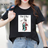 Lips, Love Print - Women T Shirt