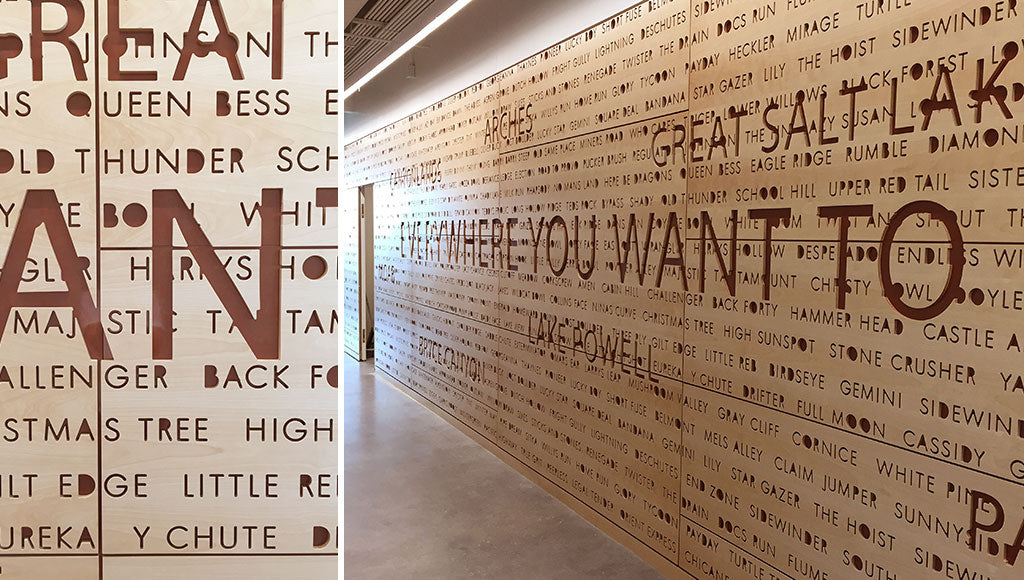 Custom Feature Wall Designed for Visa HQ & Gensler by Sjotime Industries