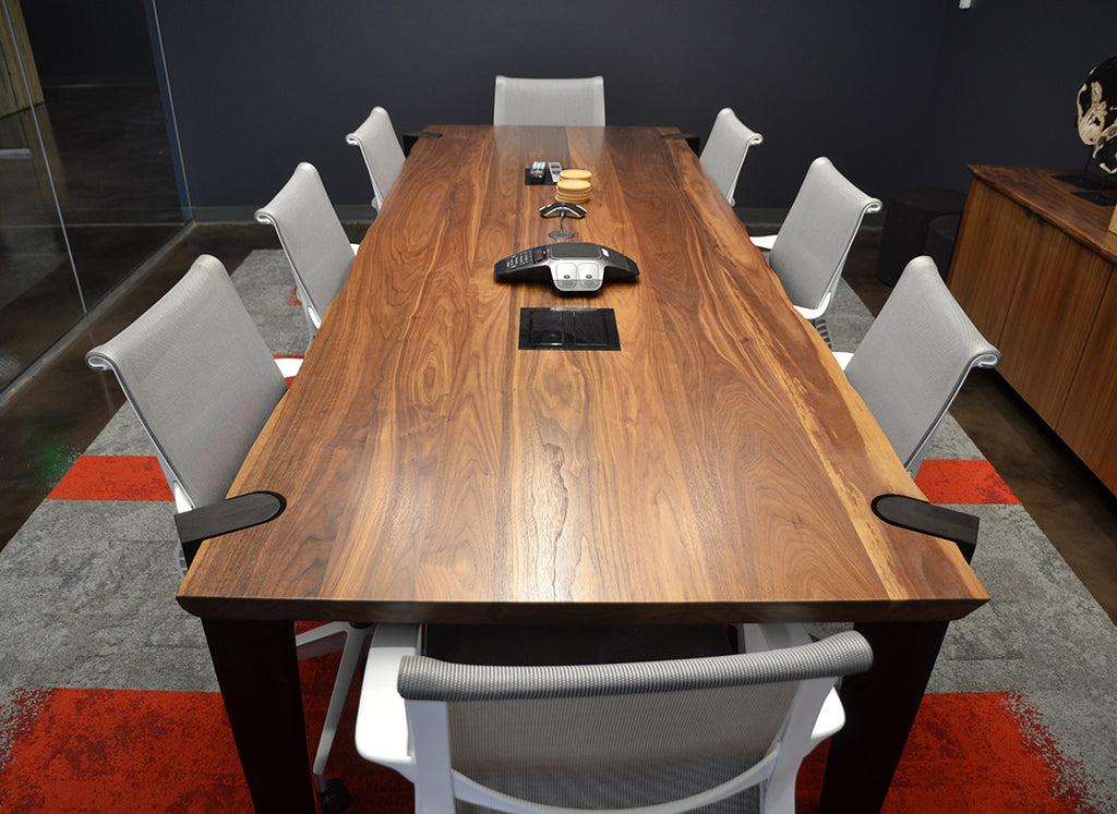 Custom Walnut Conference Table designed by Sjotime Industries for Red Lion Hotels