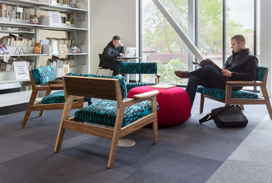 Strata Lounge Chairs designed by Sjotime Industries for Denver Public Library