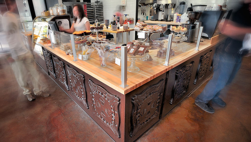 Custom Retail Counter Designed by Sjotime Industries for Sugar Bakeshop