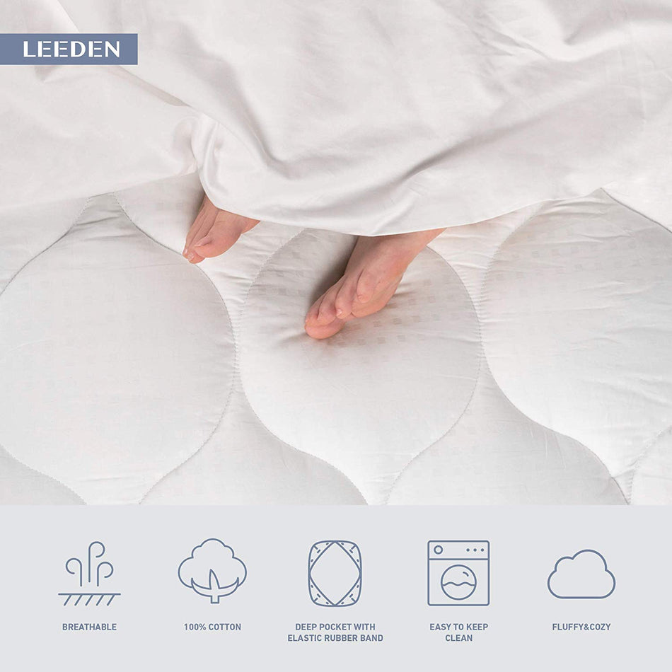 Deep Pocket Cooling Mattress Pad Cover