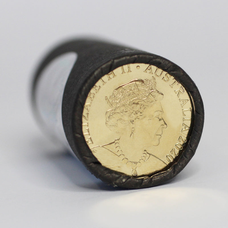 2020 Australian $1 One Dollar 100 Years of Qantas Cotton & Co Certified Roll
