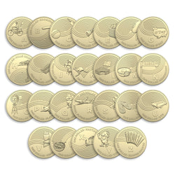 Cotton & Co 26 Roll Set of A - Z 2019 $1 Coins