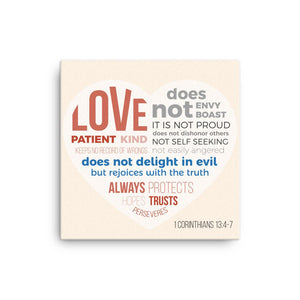 Love is Patient, Love is Kind - Wall Canvas - Inspiring, Ready-To-Hang Wall Art