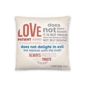 Love is Patient, Love is Kind - Oversized Throw Pillow