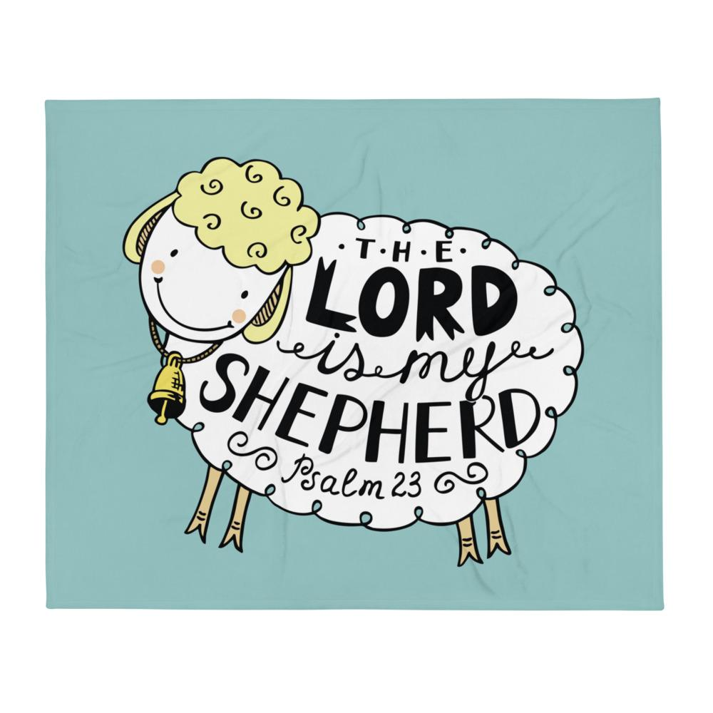 The Lord is My Shepherd - Cozy Throw Blanket - Perfect for Kids Room or Playroom