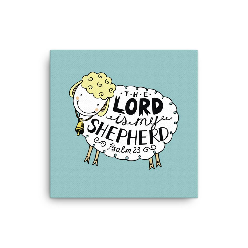 The Lord is My Shepherd - Wall Canvas - Adorable, Ready-To-Hang Wall Art for Nursery or Kids Room