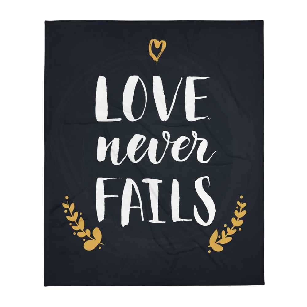 Love Never Fails - Cozy Throw Blanket