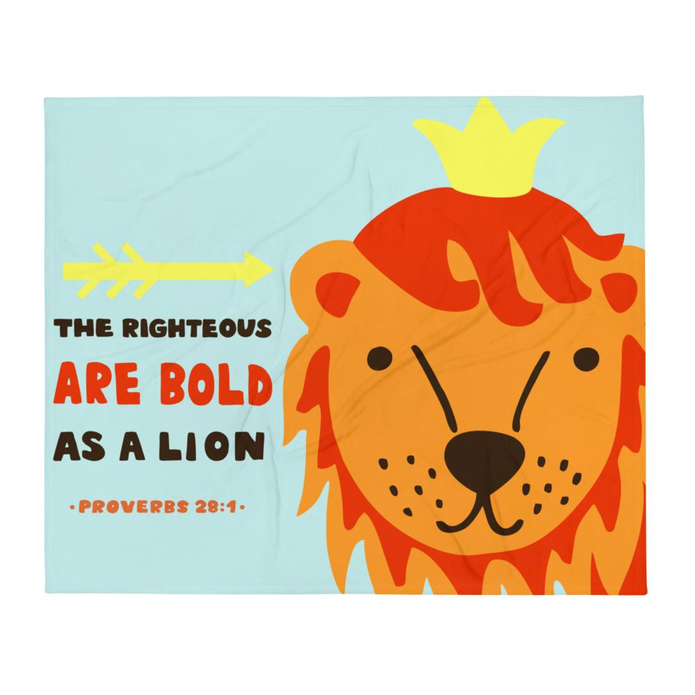 Bold As a Lion - Cozy Throw Blanket - Perfect for Kids Room or Playroom