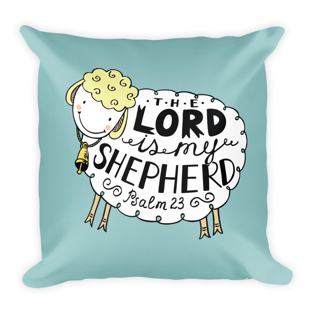 The Lord is My Shepherd - Adorable Oversized Throw Pillow for Nursery or Kids Room