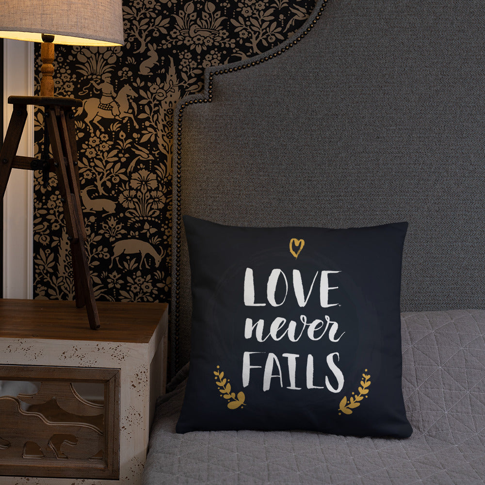 Love Never Fails - Oversized Throw Pillow