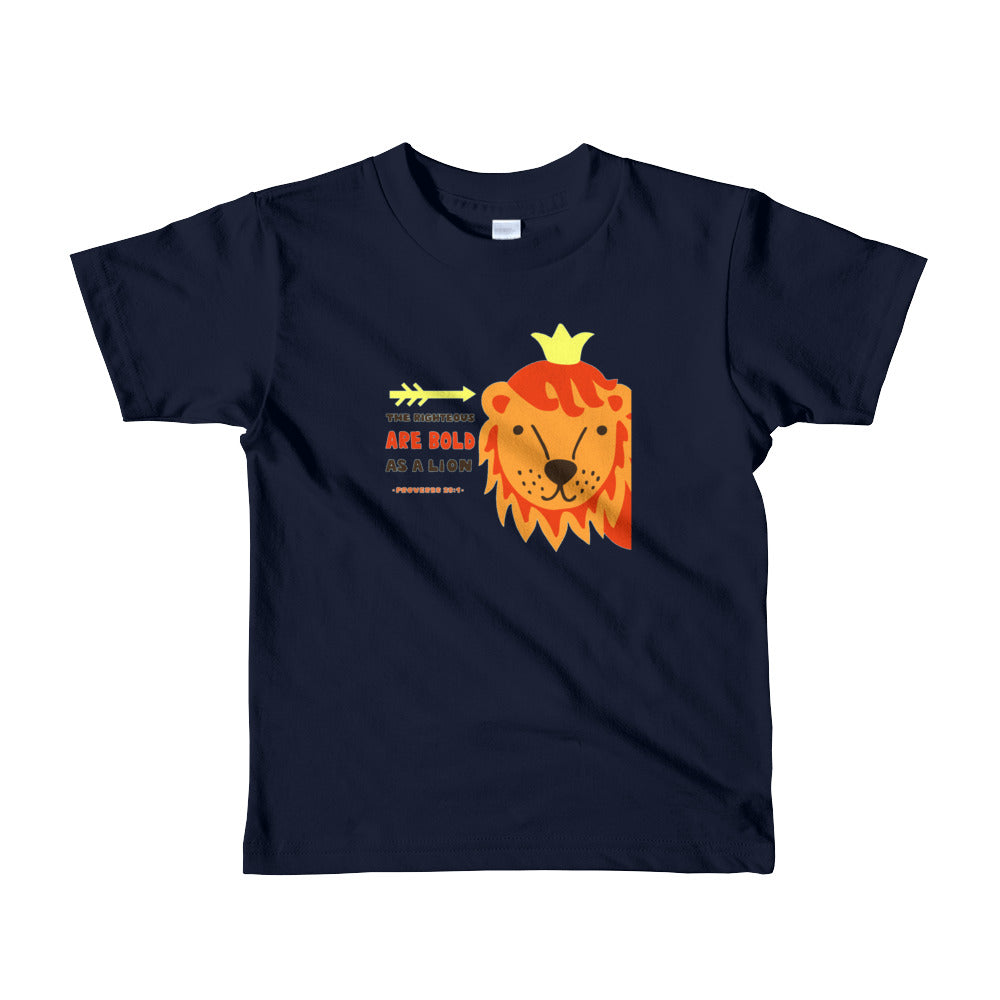 Bold as a Lion - American Apparel Kids T-shirt - Ages 2-6 Years