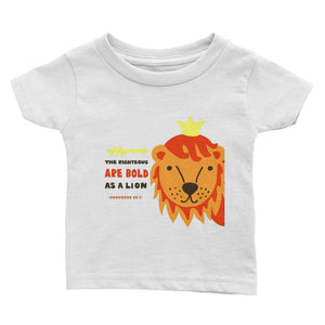 Bold As a Lion - Infant Tee Soft Baby T-shirt