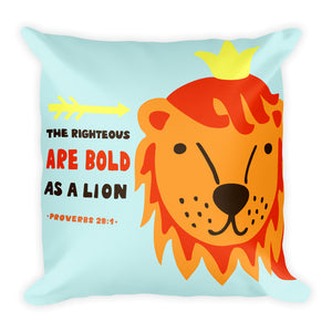Bold as a Lion - Colorful Oversized Throw Pillow for Nursery or Kids Room