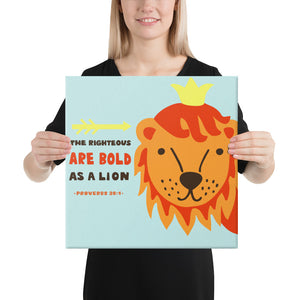 Bold as a Lion - Wall Canvas - Colorful, Ready-To-Hang Wall Art for Nursery or Kids Room