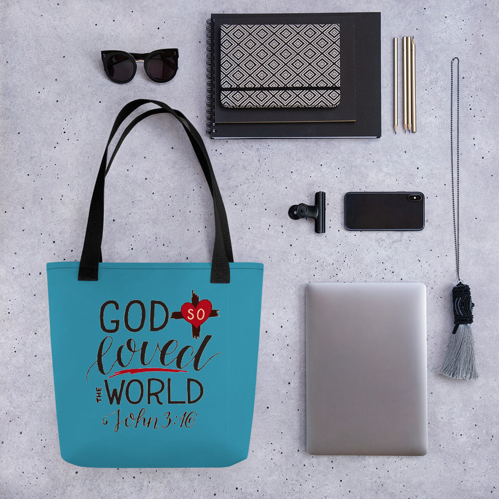 God So Loved the World - Stylish, Roomy Tote Bag