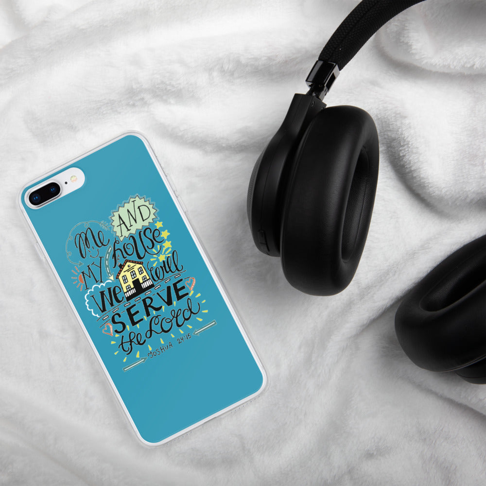 Me and My House - iPhone Case - For iPhone 11, 11 Pro, 11 Pro Max, 6 Plus/6s Plus, 6/6s, 7 Plus/8 Plus, 7/8, X/XS, XR, XS Max - Blue