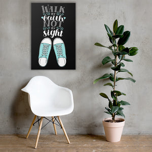 Walk By Faith, Not By Sight - Wall Canvas - Inspiring, Ready-To-Hang Wall Art