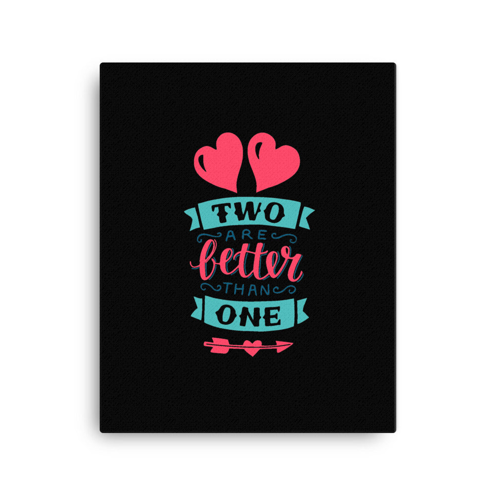 Two Are Better Than One - Wall Canvas - Inspiring, Ready-To-Hang Wall Art - Black