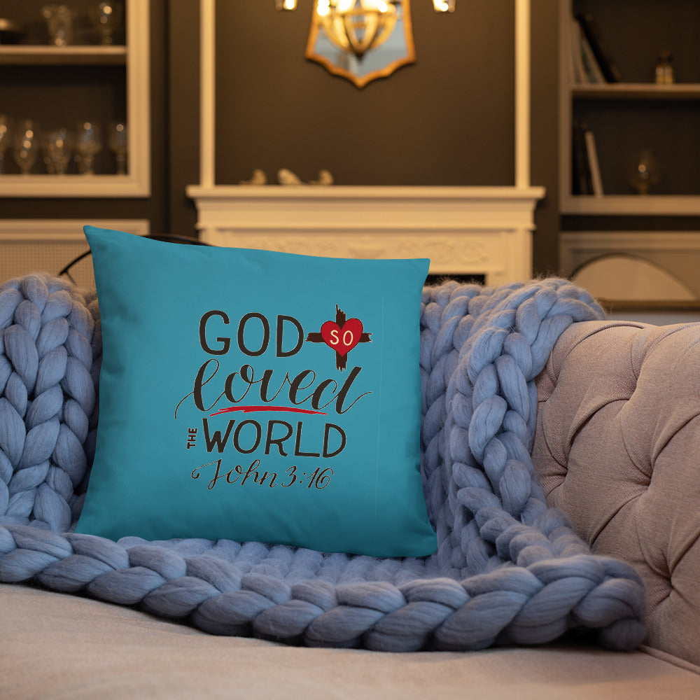 God So Loved the World - Oversized Throw Pillow