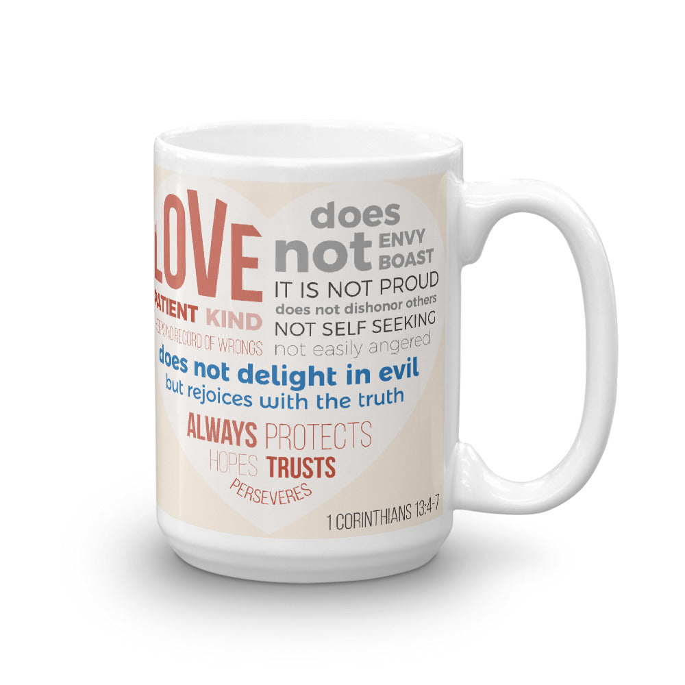 Love is Patient, Love is Kind - Glossy Premium Mug - 11oz and 15oz