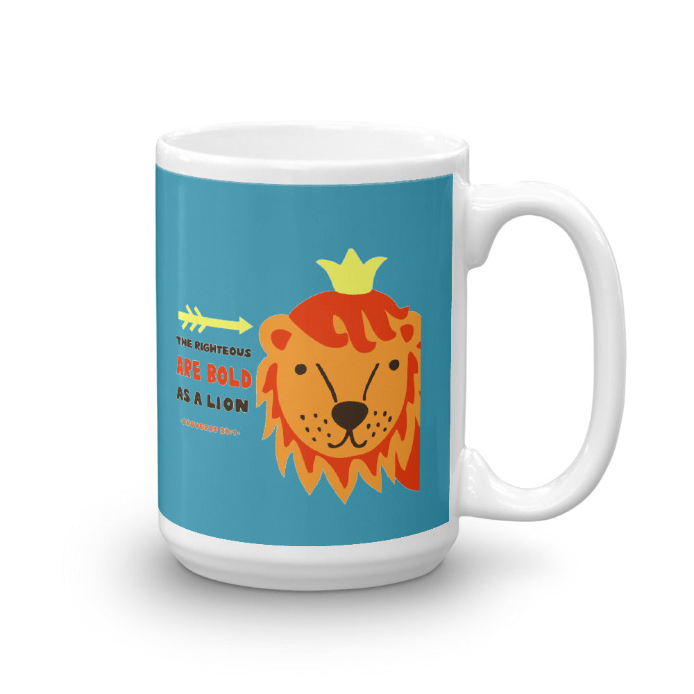 Bold as a Lion - Glossy, Premium Mug - 11oz and 15oz