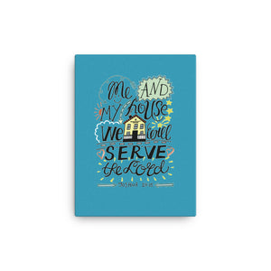 Me and My House - Wall Canvas - Vibrant, Ready-To-Hang Wall Art - Blue