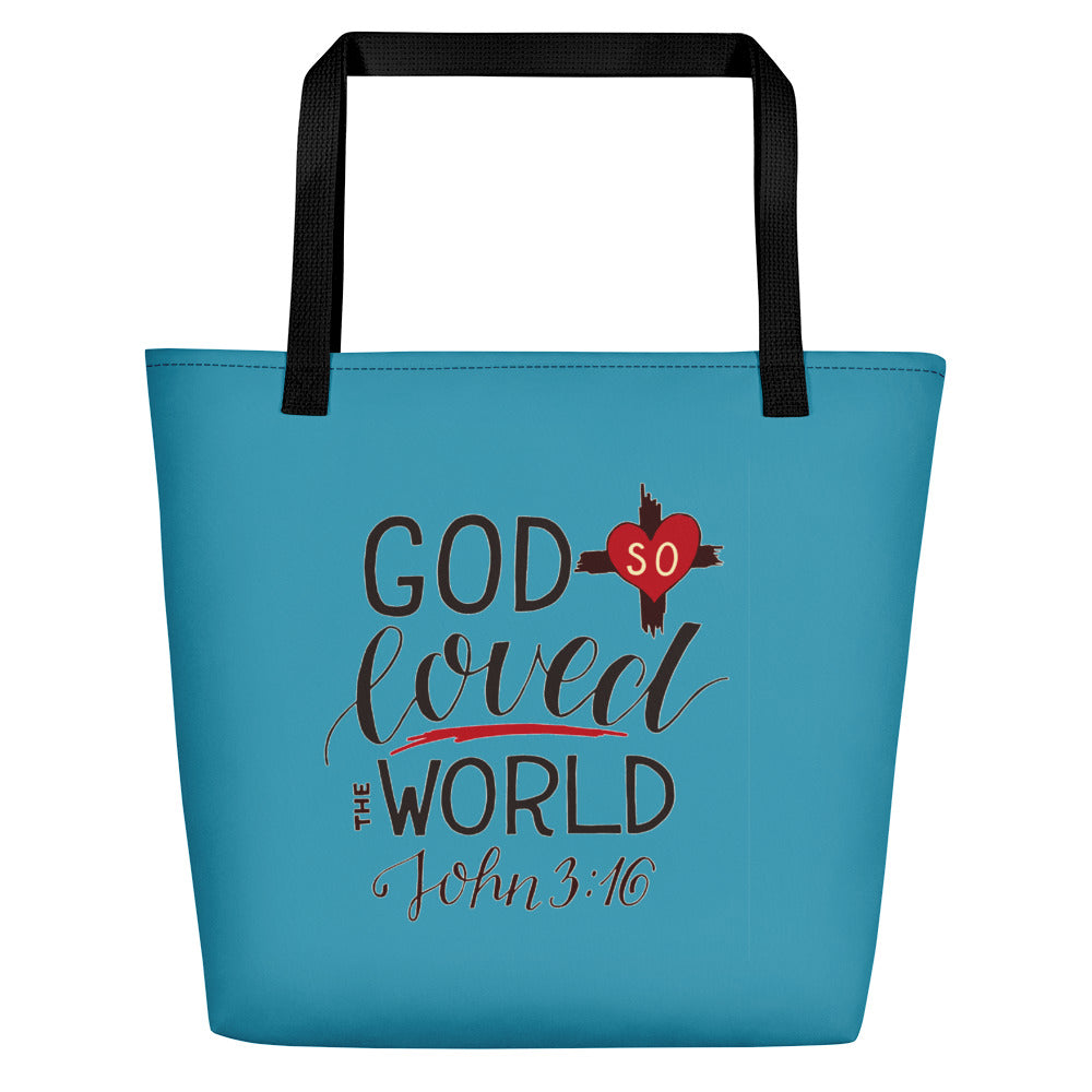 God So Loved the World - Oversized Tote Bag