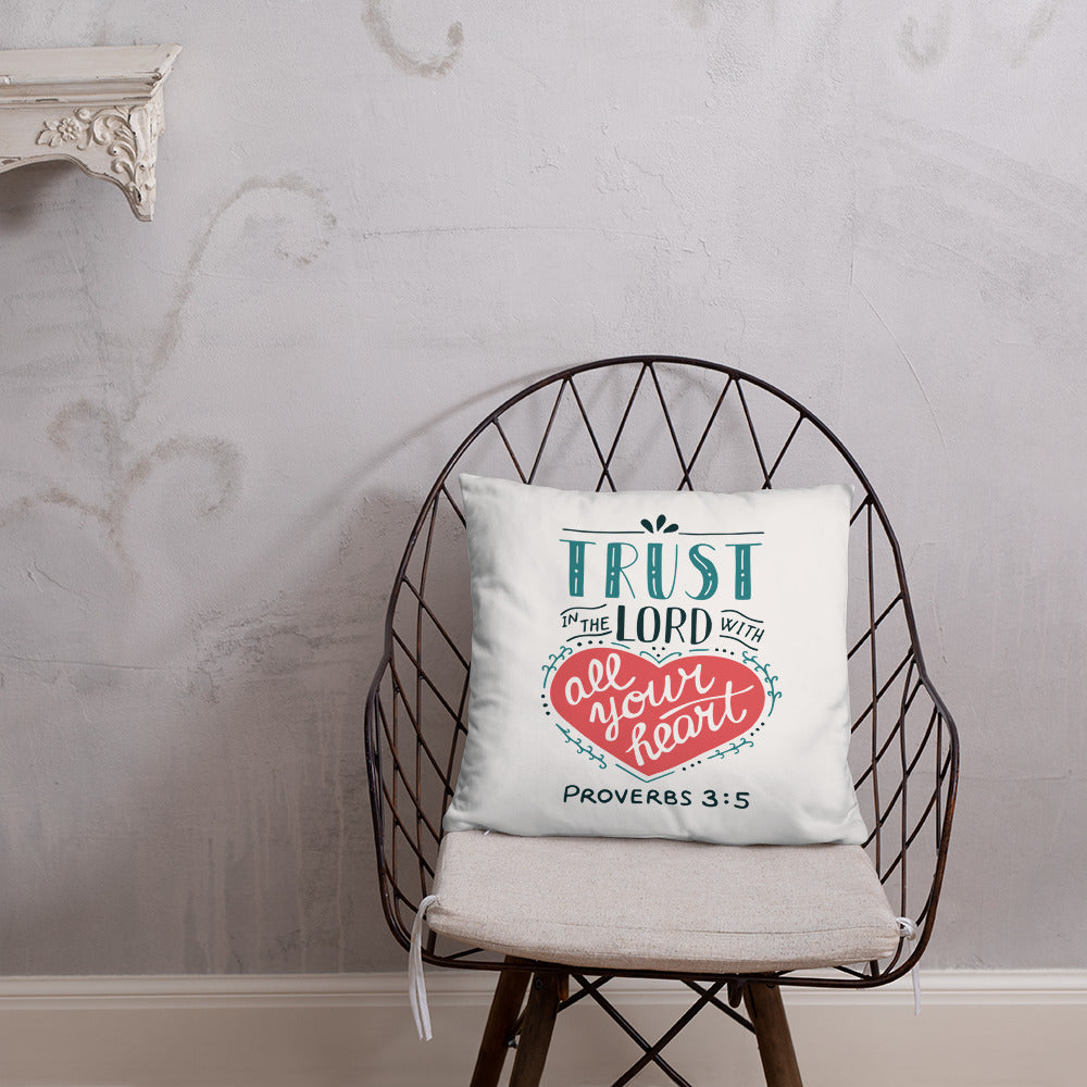 Trust in the Lord - Oversized Throw Pillow