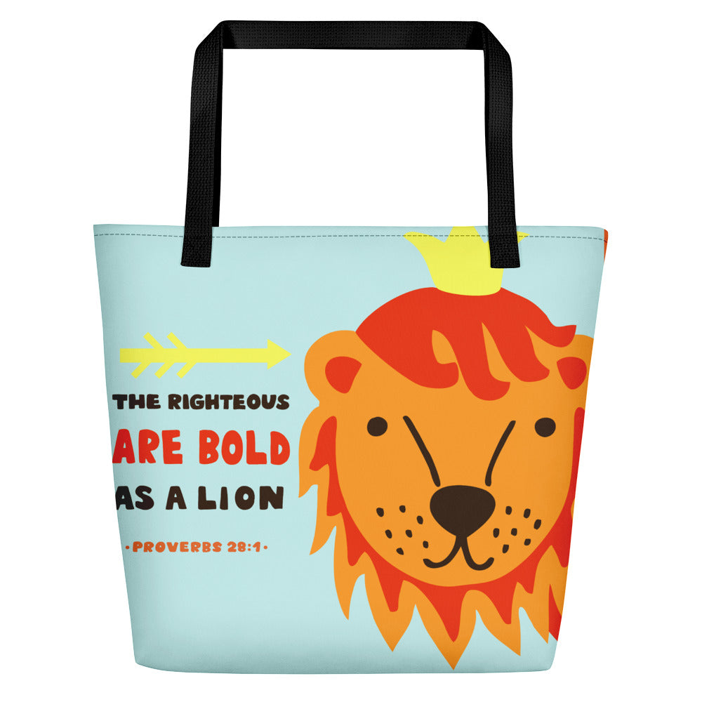 Bold as a Lion - Colorful, Oversized Baby Bag, Beach Bag, or Kids Tote