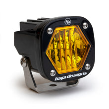 Load image into Gallery viewer, Baja Designs S1 Amber Wide Cornering LED Light w/ Mounting Bracket Single