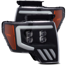 Load image into Gallery viewer, AlphaRex 09-14 Ford F-150 NOVA LED Proj Headlights Plank Style Matte Black w/Activ Light/Seq Signal