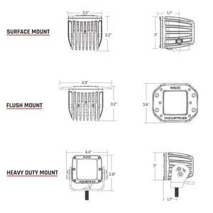 Rigid Industries Dually - Flush Mount - Flood - Set of 2