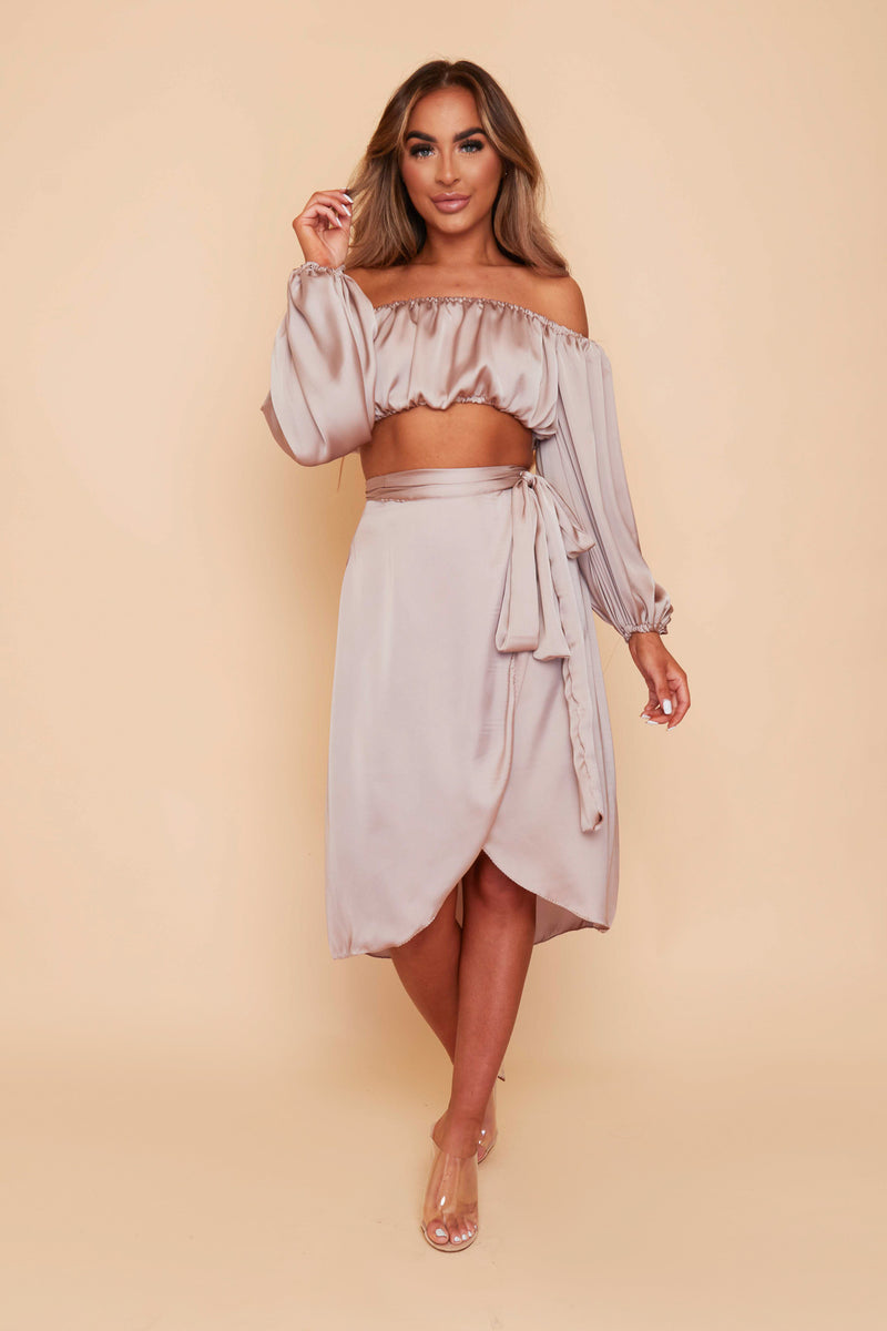 Valencia Gathered Top & Wrap Skirt Co-ord Set