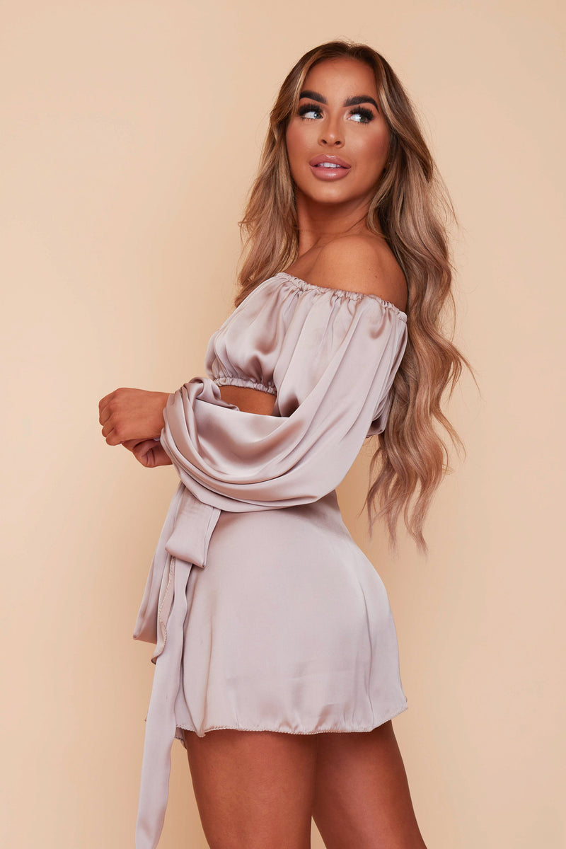 Lily Top & Wrap Skirt Co-ord Set