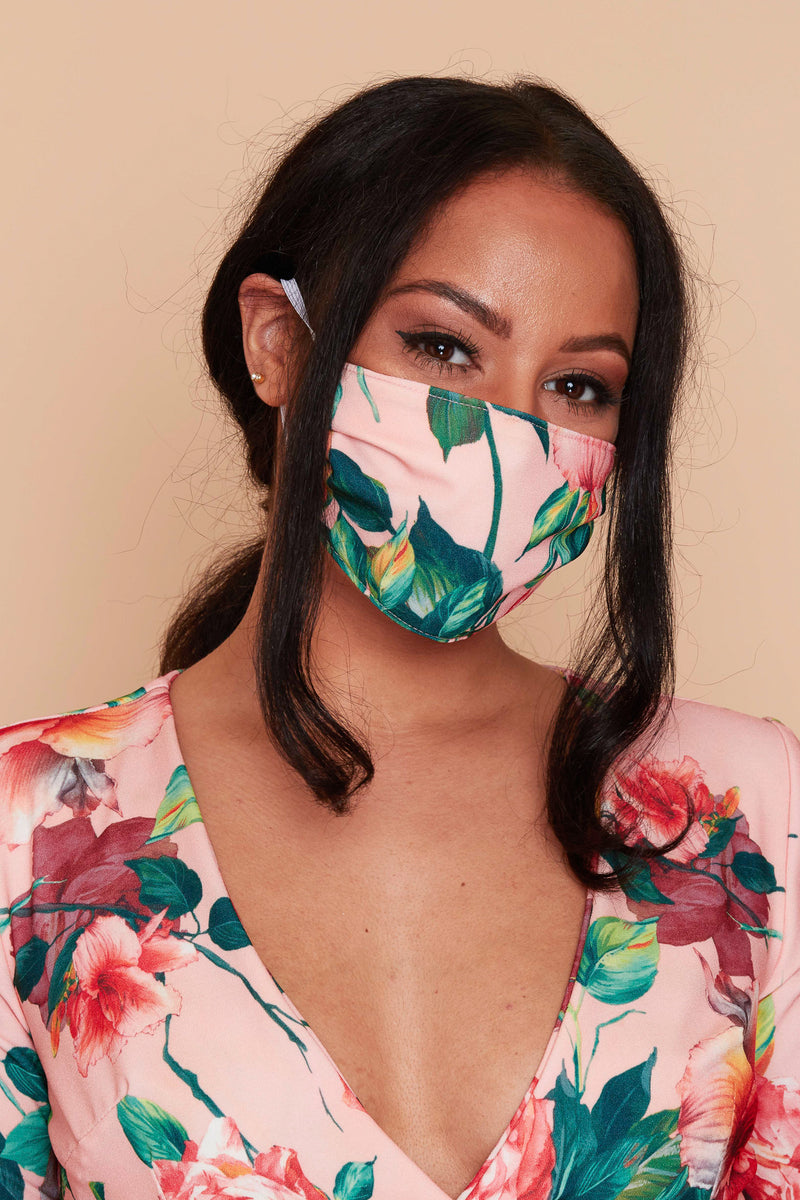 Matching Floral Fashion Face Covering Mask