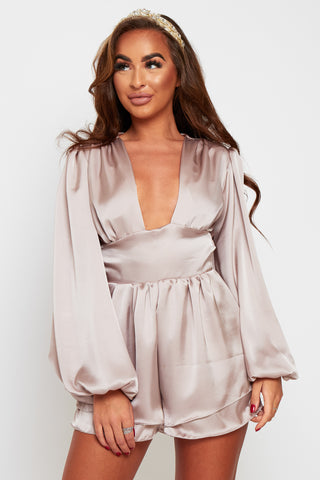 Cassie Satin & Chiffon Mix Dress With Tie shoulders (more colours available)